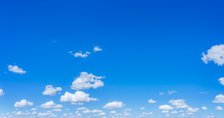 Fototapeta Beautiful panorama blue sky and clouds with daylight natural background.