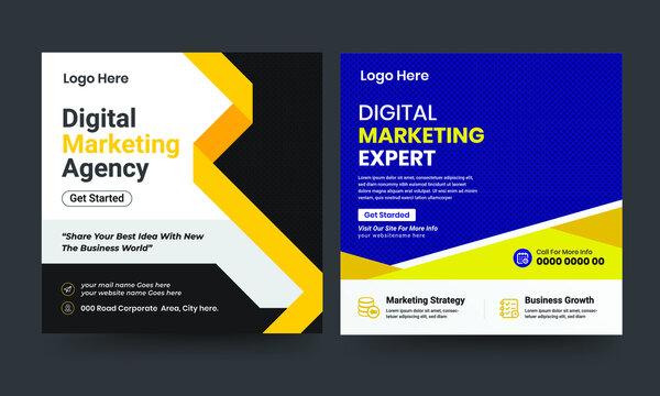 Business Social media post or web banner design template.