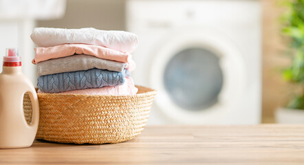 Obraz Interior of a real laundry room - fototapety do salonu