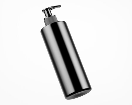 Dark Metallic Soap Bottle Mockup