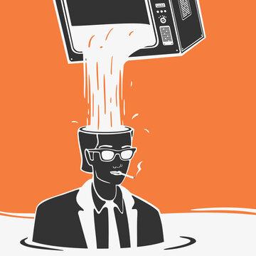 Vector Illustration Propaganda Media Concept