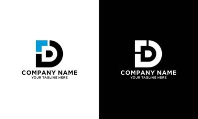 Fototapeta Letter d logo initial design template obraz