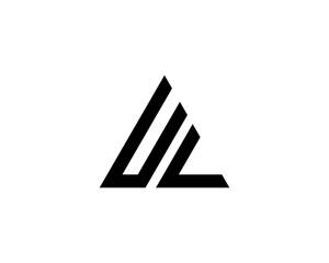 Obraz UL LU letter logo design vector template - fototapety do salonu