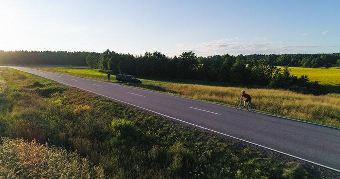 Man biking on the countryside 02