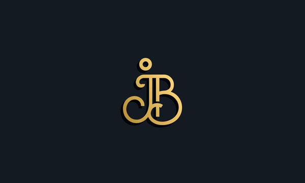 Luxury fashion initial letter JB logo.