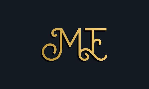 Luxury fashion initial letter ME logo.