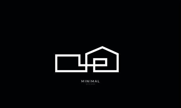 A minimal line art house logo