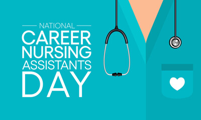 Obraz National Career Nurse assistants day is observed every year in June, Nursing is a profession within the health care sector focused on the care of individuals, families, and communities. Vector art. - fototapety do salonu