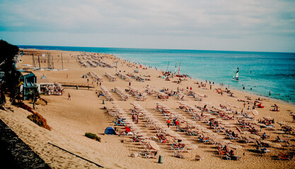 jandia playa fuerteventura piaszczysta plaża  błękitne morze