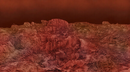 Obraz Mars landscape, science fiction illustration - fototapety do salonu