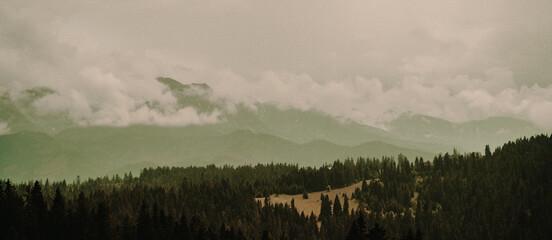 Mgła w tatrach  Zakopane Polska  Polskie przepiękne góry