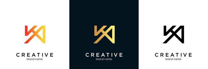 Obraz Initial Letter KA Logo, Vector Illustration Design - fototapety do salonu