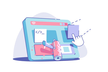 Obraz Modern site redesign - fototapety do salonu