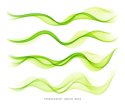 Vector abstract colorful flowing wave lines isolated on white background. Design element for technology, science, music or modern concept.