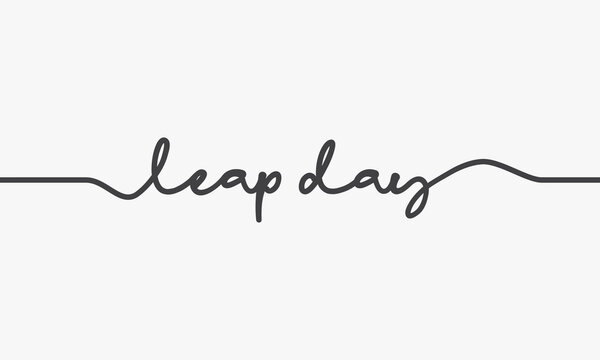 leap day word script design vector.