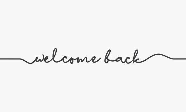 welcome back word script design vector.
