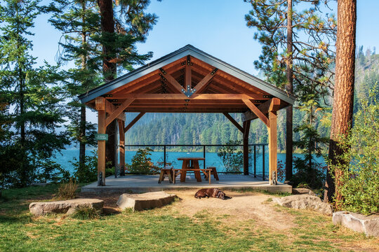 The Pavilion at Suttle Lake near Camp Sherman in Central Oregon