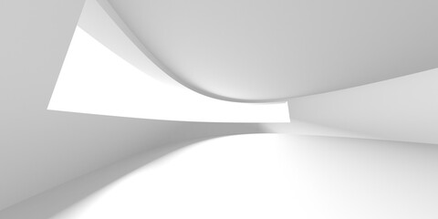Fototapeta Abstract White Architecture Design Concept