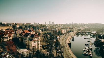 Praga czechy panorama miasta  Prague Czechy miasto  Prague city panorama