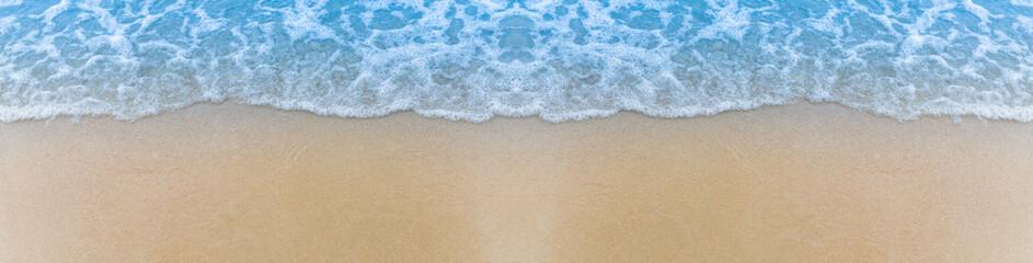 Fototapeta Blue sea and beach texture background.