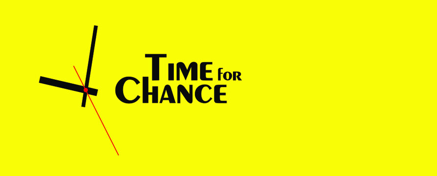 time for change sign on white background