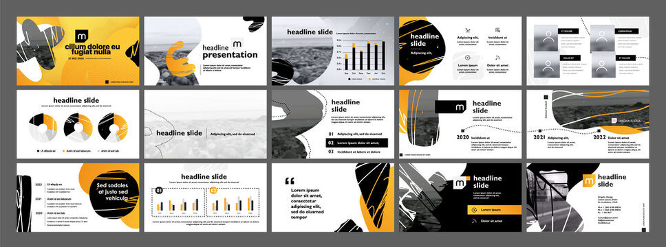 Vector slides for presentation. You can be edited by Adobe Illustrator. Powerpoint presentation can also be done for this. Easy to edit and you can replace your own photos and color as well as text.