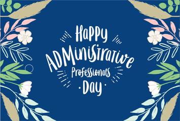 Fototapeta Administrative Professionals Day, happy, card