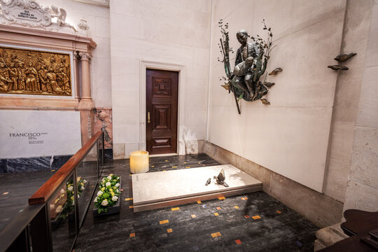 Francisco Tomb in the Basilica of Our Lady of the Rosary at Sanctuary of Fatima - Fatima, Portugal
