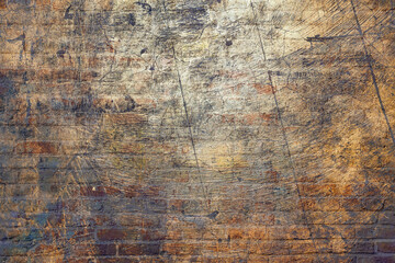 Full Frame Shot of Abstract Background and Closeup Photo of Brown Brick Wall