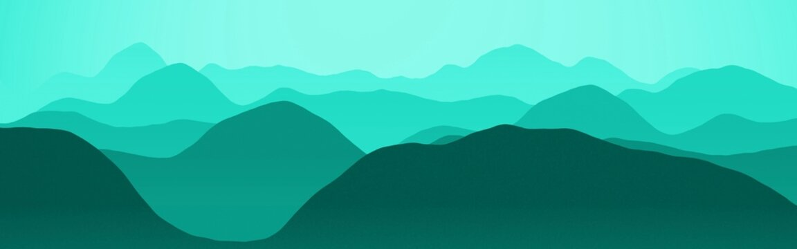 beautiful light blue hills slopes at the time of sun to set digitally made texture background illustration