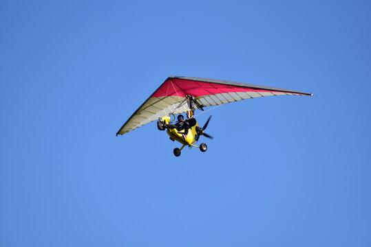 Motor kite flying in the sky