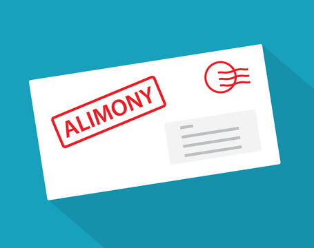 envelope with alimony documents- vector illustration