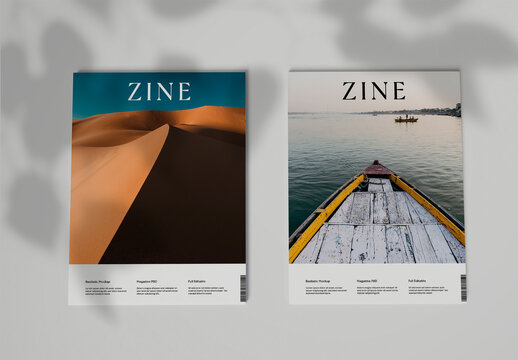 Two Magazine Covers Mockup