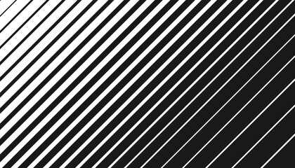 Fototapeta Minimal black monochrome stripe pattern design. Abstract striped surface isolated on white background.