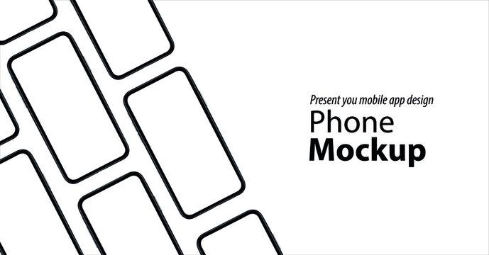 Smartphone mockup Isometric Perspective Device model. Modern template for infographics or presentation UI design interface tech Mobile app design . 3D iPhone Vector illustration