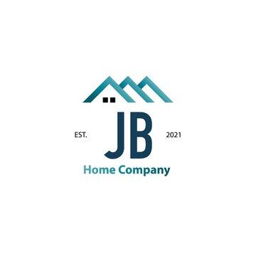 Initial Letter JB Home Creative Logo Design Template. Creative template logo