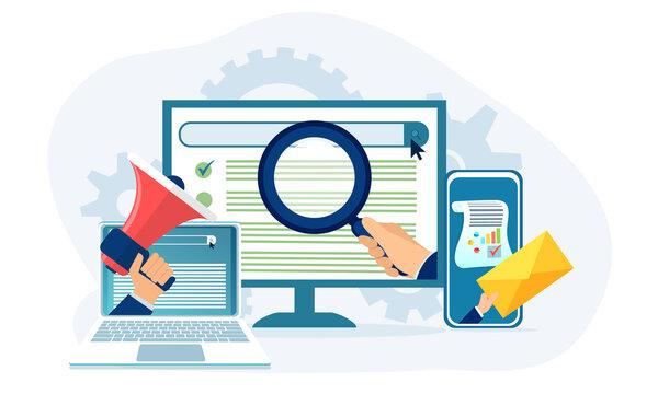 Marketing analytics and optimization concept