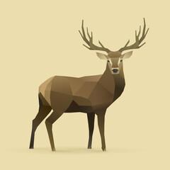 Fototapeta illustration of deer real
