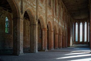 Fototapeta Interior Of Gothic Abbey