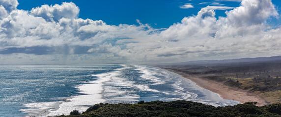 Plaża, okolice Auckland, Morze Tasmana