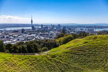 Auckland panorama miasta z Mt. Eden