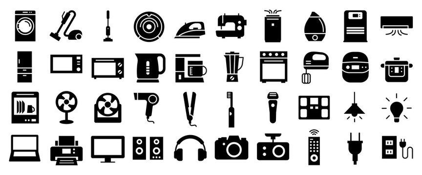 Home appliances vector icon 家電アイコンセット