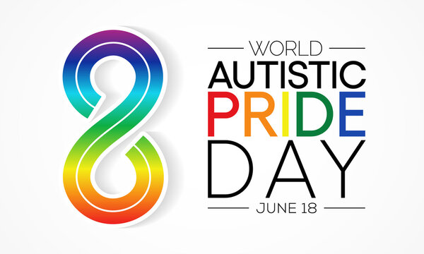 Autistic Pride Day is a pride celebration for autistic people held on June 18th every year. Vector illustration.