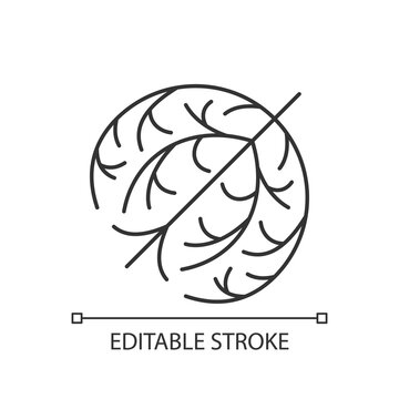 Tumbleweed linear icon. Desert dry plant ball. Seasonal pollen as cause of allergic reaction. Thin line customizable illustration. Contour symbol. Vector isolated outline drawing. Editable stroke