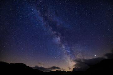 Fototapeta via lattea da Saltria, Alpe di Siusi