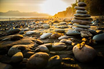 Fototapeta Stack of Stones on Beach