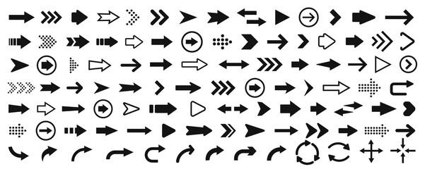 Fototapeta Arrow icon. Mega set of vector arrows