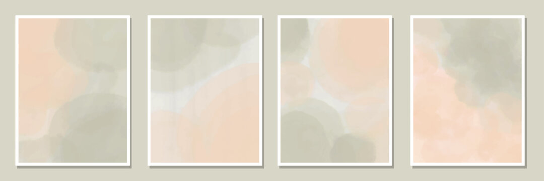 collection of watercolor abstract background for invitationcard ,poster earth tone color.