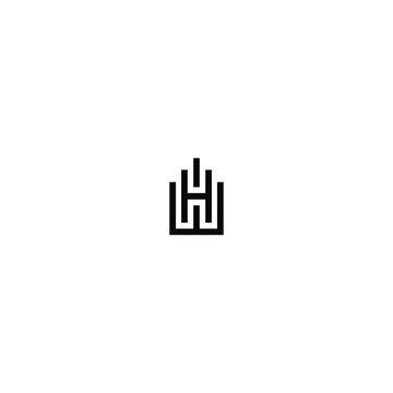 wh logo latter vector templete