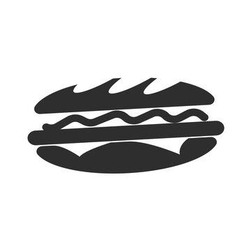 Subway Sandwich on White